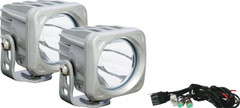 WHITE OPTIMUS LED LIGHT KIT. TWO LIGHTS AND INSTALL KIT - Vision X XIL-OP110WKIT 9129914