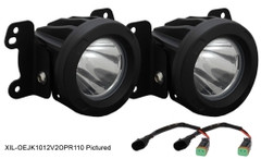2010-2012 Jeep JK LED Fog Light Kit - Vision X XIL-OE1012JKV2OPR 9154756