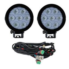 "Vision X XIL-UMX4040KIT 4"" Round Utility Market Xtreme LED Work Light Kit (40 Degree)"