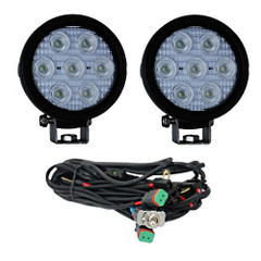"Vision X XIL-UMX40e3065KIT 4"" Round Utility Market Xtreme LED Work Light Elliptical Beam Kit"