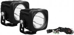 Black Optimus LED 20 Degree Beam Light Kit - Two Lights and an Install Kit - Vision X XIL-OP120KIT 9138015