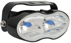 "6"" x 2.4"" x 2.8"" BLACK DUAL 55 WATT FOG/DRIVING LAMP. Vision X VX-119 (Front)"
