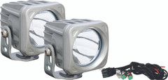 OPTIMUS SQUARE SILVER 1 10W LED 10° NARROW KIT OF 2 LIGHTS. Vision X XIL-OP110SKIT