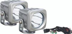 OPTIMUS SQUARE SILVER 1 10W LED 10° NARROW KIT OF 2 LIGHTS. Vision X XIL-OP110SKIT