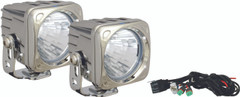 OPTIMUS SQUARE CHROME 1 10W LED 20° MEDIUM KIT OF 2 LIGHTS - Vision X XIL-OP120CKIT 9148366