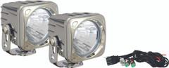 OPTIMUS SQUARE CHROME 1 10W LED 20° MEDIUM KIT OF 2 LIGHTS. Vision X XIL-OP120CKIT