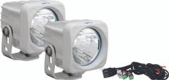 OPTIMUS SQUARE WHITE 1 10W LED 20° MEDIUM KIT OF 2 LIGHTS. Vision X XIL-OP120WKIT