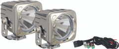 OPTIMUS SQUARE CHROME 1 10W LED 60° FLOOD KIT OF 2 LIGHTS - Vision X XIL-OP160CKIT 9148540