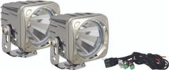 OPTIMUS SQUARE CHROME 1 10W LED 60° FLOOD KIT OF 2 LIGHTS. Vision X XIL-OP160CKIT