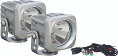 OPTIMUS SQUARE SILVER 1 10W LED 60° FLOOD KIT OF 2 LIGHTS. Vision X XIL-OP160SKIT