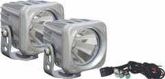 OPTIMUS SQUARE SILVER 1 10W LED 60° FLOOD KIT OF 2 LIGHTS. Vision X XIL-OP160SKIT
