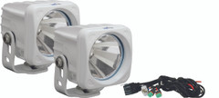 OPTIMUS SQUARE WHITE 1 10W LED 60° FLOOD KIT OF 2 LIGHTS -Vision X XIL-OP160WKIT 9148458
