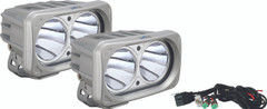 OPTIMUS SQUARE SILVER 2 10W LEDS 10° NARROW KIT OF 2 LIGHTS. Vision X XIL-OP210SKIT