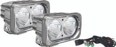 OPTIMUS SQUARE CHROME 2 10W LEDS 20° MEDIUM KIT OF 2 LIGHTS - Vision X XIL-OP220CKIT 9148724