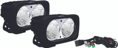 OPTIMUS SQUARE BLACK 2 10W LEDS 20° MEDIUM KIT OF 2 LIGHTS - Vision X XIL-OP220KIT 9137834
