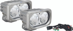OPTIMUS SQUARE SILVER 2 10W LEDS 20° MEDIUM KIT OF 2 LIGHTS. Vision X XIL-OP220SKIT