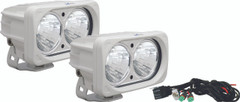 OPTIMUS SQUARE WHITE 2 10W LEDS 20° MEDIUM KIT OF 2 LIGHTS - Vision X XIL-OP220WKIT 9148632