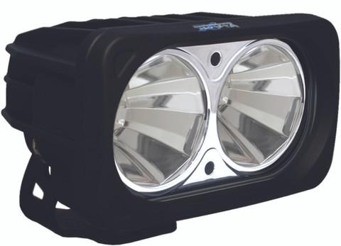 OPTIMUS SQUARE BLACK 2 10W LEDS 60° FLOOD - Vision X XIL-OP260 9136660