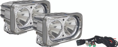 OPTIMUS SQUARE CHROME 2 10W LEDS 60° FLOOD KIT OF 2 LIGHTS - Vision X XIL-OP260CKIT 9148908