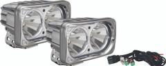 OPTIMUS SQUARE CHROME 2 10W LEDS 60° FLOOD KIT OF 2 LIGHTS. Vision X XIL-OP260CKIT