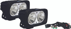 OPTIMUS SQUARE BLACK 2 10W LEDS 60° FLOOD KIT OF 2 LIGHTS - Vision X XIL-OP260KIT 9137742