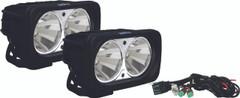 OPTIMUS SQUARE BLACK 2 10W LEDS 60° FLOOD KIT OF 2 LIGHTS. Vision X XIL-OP260KIT