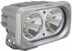 OPTIMUS SQUARE SILVER 2 10W LEDS 60° FLOOD. Vision X XIL-OP260S
