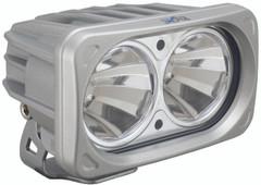 OPTIMUS SQUARE SILVER 2 10W LEDS 60° FLOOD. Vision X XIL-OP260S