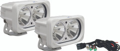 OPTIMUS SQUARE WHITE 2 10W LEDS 60° FLOOD KIT OF 2 LIGHTS - Vision X XIL-OP260WKIT 9148816