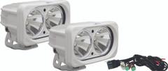 OPTIMUS SQUARE WHITE 2 10W LEDS 60° FLOOD KIT OF 2 LIGHTS. Vision X XIL-OP260WKIT