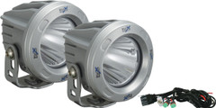 OPTIMUS ROUND SILVER 1 10W LED 10° NARROW KIT OF 2 LIGHTS. Vision X XIL-OPR110SKIT