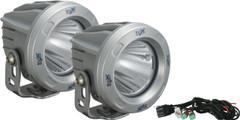 OPTIMUS ROUND SILVER 1 10W LED 10° NARROW KIT OF 2 LIGHTS. Vision X XIL-OPR110SKIT