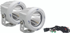 OPTIMUS ROUND WHITE 1 10W LED 10° NARROW KIT OF 2 LIGHTS - Vision X XIL-OPR110WKIT 9149806