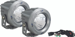 OPTIMUS ROUND SILVER 1 10W LED 20° MEDIUM KIT OF 2 LIGHTS. Vision X XIL-OPR120SKIT