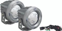 OPTIMUS ROUND SILVER 1 10W LED 20° MEDIUM KIT OF 2 LIGHTS. Vision X XIL-OPR120SKIT