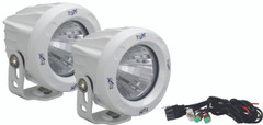 OPTIMUS ROUND WHITE 1 10W LED 20° MEDIUM KIT OF 2 LIGHTS - Vision X XIL-OPR120WKIT 9149981