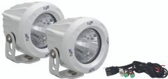 OPTIMUS ROUND WHITE 1 10W LED 20° MEDIUM KIT OF 2 LIGHTS - Vision X XIL-OPR120WKIT 9149981
