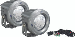 OPTIMUS ROUND SILVER 1 10W LED 60° FLOOD KIT OF 2 LIGHTS. Vision X XIL-OPR160SKIT