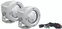OPTIMUS ROUND WHITE 1 10W LED 60° FLOOD KIT OF 2 LIGHTS - Vision X XIL-OPR160WKIT 9148991