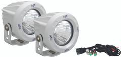 OPTIMUS ROUND WHITE 1 10W LED 60° FLOOD KIT OF 2 LIGHTS - Vision X XIL-OPR160WKIT 9148991