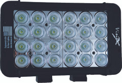 "8"" XMITTER PRIME DOUBLE STACK LED BAR BLACK TWENTY FOUR 3-WATT LED'S 30ºX65º DEGREE ELLIPTICAL BEAM. Vision X XIL-P2.12e3065"