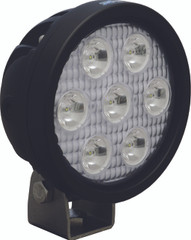 "4"" ROUND UTILITY MARKET BLACK WORK LIGHT SEVEN 3-WATT LED'S 10 DEGREE NARROW BEAM. Vision X XIL-UM4010.4300k"
