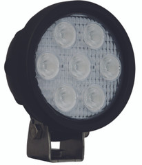 "4"" ROUND UTILITY MARKET BLACK WORK LIGHT SEVEN 3-WATT LED'S 40 DEGREE WIDE BEAM. Vision X XIL-UM4040.4300k"