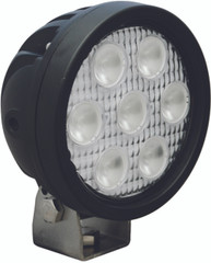 "4"" ROUND UTILITY MARKET BLACK WORK LIGHT SEVEN 3-WATT LED'S 60 DEGREE EXTRA WIDE BEAM. Vision X XIL-UM4060.4300k"