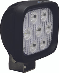 "4"" SQUARE UTILITY MARKET BLACK WORK LIGHT SEVEN 3-WATT LED'S 10 DEGREE NARROW BEAM. Vision X XIL-UM4410.4300k"
