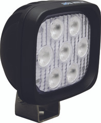 "4"" SQUARE UTILITY MARKET BLACK WORK LIGHT SEVEN 3-WATT LED'S 40 DEGREE WIDE BEAM. Vision X XIL-UM4440.4300k"