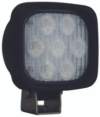 "4"" SQUARE UTILITY MARKET BLACK WORK LIGHT SEVEN 3-WATT LED'S 60 DEGREE EXTRA WIDE BEAM. Vision X XIL-UM4460.4300k"