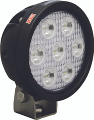 "4"" ROUND UTILITY MARKET XTREME BLACK WORK LIGHT SEVEN 5-WATT LED'S 10 DEGREE NARROW BEAM. Vision X XIL-UMX4010.4300k"