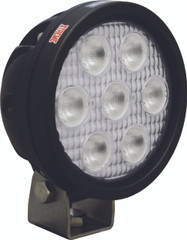 "4"" ROUND UTILITY MARKET XTREME BLACK WORK LIGHT SEVEN 5-WATT LED'S 40 DEGREE WIDE BEAM. Vision X XIL-UMX4040.4300k"