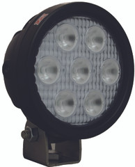 "4"" ROUND UTILITY MARKET XTREME BLACK WORK LIGHT SEVEN 5-WATT LED'S 60 DEGREE EXTRA WIDE BEAM. Vision X XIL-UMX4060.4300k"